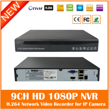 Hd1080p All-real-time Nvr 9ch Single Sata Port Cctv For Ip Camera Security System Onvif H.264 P2p Network Video Recorder