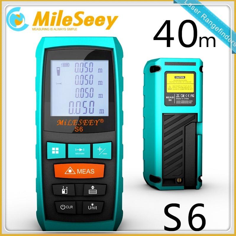 Mileseey S6 laser measure 40M measuring tool laser rangefinder laser distance meter diastimeter measuring  medidor laser Blue<br>