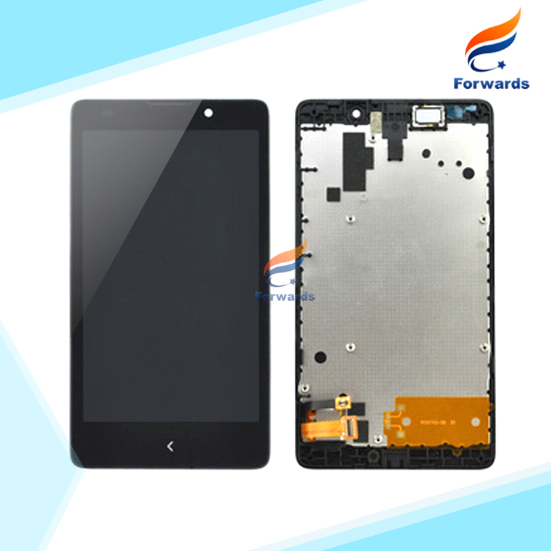 New Black replacement parts for Nokia XL LCD Screen Display with Touch Digitizer + Frame assembly 5.0 inch 1 piece free shipping<br><br>Aliexpress