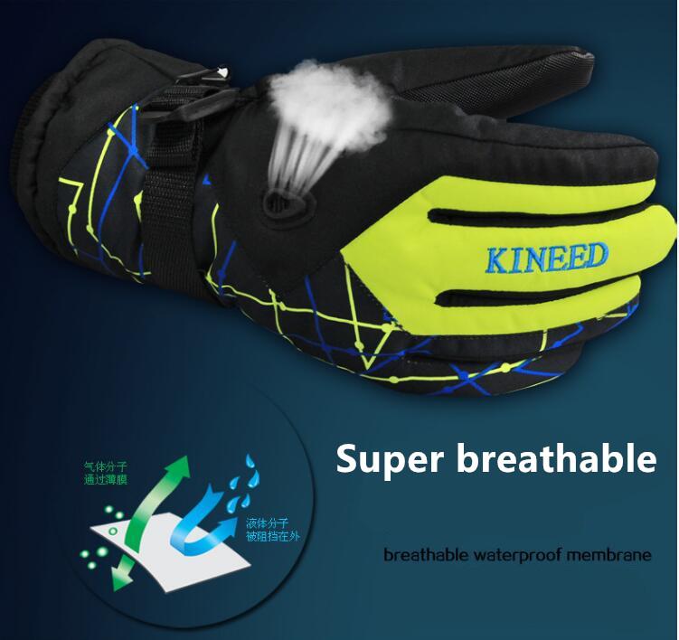 Men Women Ski Gloves Winter Waterproof Anti-Cold Warm Gloves Outdoor Sport Snow Sportswear Skiing Gloves 9
