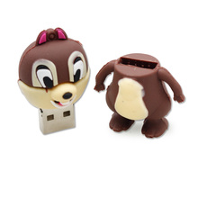 U Pen Drive Cute Squirrel 8GB 16GB 32GB 64GB USB 2.0 USB Flash Disk Pendrive Real Capacity Memory Card Stick Disk Pendrive Gift
