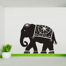 2017 Special Offer Europe Festival Hot Sale Walking Elephant Indian Wall Sticker Bedroon Dinning Room Decor Art Home Decoration(China)