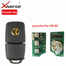 Xhorse Remote Key 3 Buttons Board For Volkswagen B5 Type VVDI2 Mini Remote Programmer Remote Chip Key Program For VW 5pcs/lot(China)