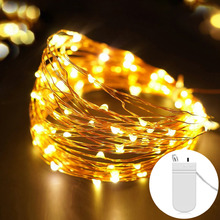 LED Fairy String Light 2M 5M Copper Wire LED Strip Holiday Light For Party Wedding Garland Lighting Decoration Battery Operated(China)