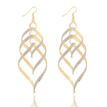 17KM New Brand Design Fashion Elegant Classic Punk Gold Color Spiral Pendant Drop Earrings Jewelry For Women Wholesale(China)