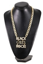Rihanna Crystal BLACK GIRLS ROCK Woman Trend Fashion Necklace