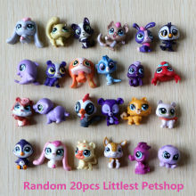 20pcs/1lot Littlest Pet Shop LPS Cartoon Rabbit 3cm Action Figures Kid Brinquedo Toys Birthday Gift Free Shipping