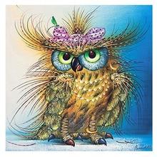 5d алмаз вышивка картина красочные Сова птица алмаз живопись животных круглый мозаика вышивки крестом алмазов вышитые животные(China)