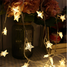 3M/6M LED Christmas Star String Christmas Tree Decoration Warm Lamp Fairy Light Holiday Wedding Party Light For Ornament KG104(China)