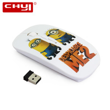 CHYI Cool Cartoon Ulrtra-thin Mouse Minions Wireless Mouse Cute USB Gaming Mause 1600DPI Optical Mice for Desktop Laptop PC