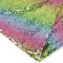 David accessories 50*125cm or 50*130cm rainbow sequins fabric For Clothing Making Party Events Table Covers Decor,c2158