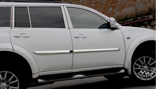Stainless steel auto side door trim moulding for  Mitsubishi Pajero 2014, auto accessories