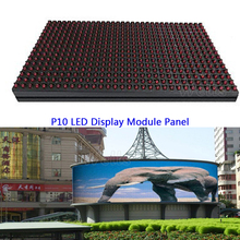 P10 LED Display Module Panel Window Sign Shop Sign out door 320*160mm full color /single color IP65 Matrix DIY RGB LED Module