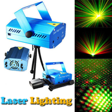 Blue Mini LED Laser Projector Red and Green Laser Stage Light Laser Lighting For Disco Party DJ Bar Club With EU OR Plug(China)