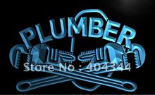 LK200- Plumber Repair Display Lure Light Sign home decor crafts(China)