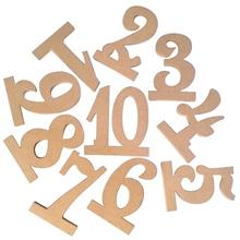 Buy 10pcs 1-10 Wooden Number Letters Wood Alphabet Wedding Table Numbers Decoration Kids Birthday Party Favors Home Supplies for $9.47 in AliExpress store