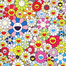 Murakami Takashi Works Sun Flowers (Group II) A Print Oil Painting on Cotton Canvas Painting Abstract Wall Art