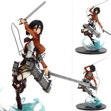 Anime Attack on Titan Mikasa.Ackerman Decoration PVC Action Figure Statue Model Toy 23CM B3 New In box(China)