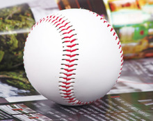 "FREE SHIPPING 1 Piece 9"" New White Base Ball Baseball Practice Training PVC Softball/Hardball hand sewing Sport Team Game"