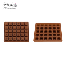 FILBAKE DIY Cake Tool Food-grade Christmas Silicone Chocolate Mold 26 English Letters Chocolate Cake Molds Of Manufacture China(China)
