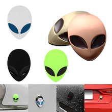 2018 Hot Full Metal 3D Alienware Alien Head Auto Logo Sticker Vinyl Badge Car Decals Graphic High Quality Car Styling(China)