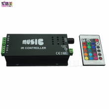 best price 1 pcs DC12-24V 24 Keys music controller IR remote RGB controller for 5050 rgb led strip lamp