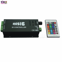 best price 1 pcs DC12-24V 24 Keys music controller IR remote RGB controller for 5050 rgb led strip lamp(China)