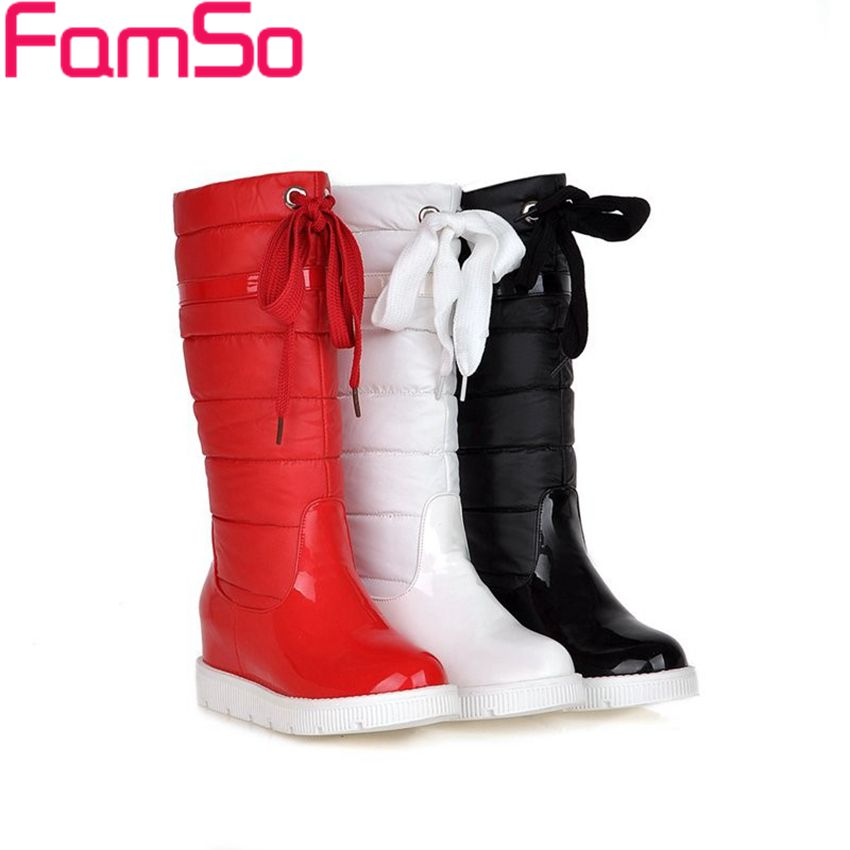 Size34-43 2017 New Arrival Women Boots Black red Knee Down Boots Waterproof Shoes Winter outdoor Snow Boots ZWB2750<br>
