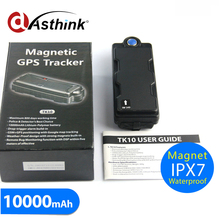 magnetic car 3G gps tracker WCDMA gprs gps trackers car with long battery life 10000mAh TK10GSE drop alarm google map free track(China)