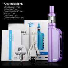 New ECT eT50 Vapor Mod 50W Electronic Cigarette VV VW 5W-50W mini Box Mod vaporizer best Vapor Mod with 2200 mah battery