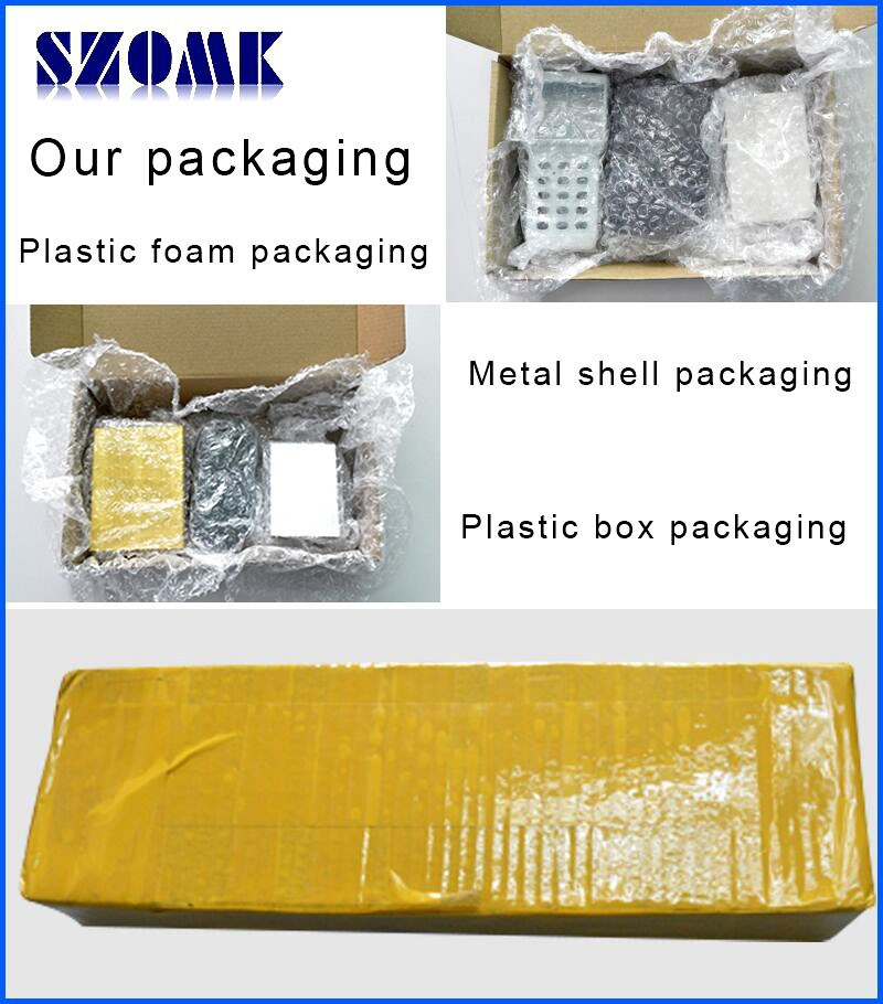 szomk plastic enclosure for electronics plastic case aluminum extrusion enclosure junction box