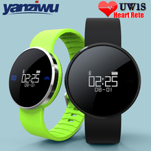 YANZIWU 2PCS UW1S Bluetooth Smart Band Heart Rate IP67 Waterproof Translucent Mirror Bracelet for Android IOS PK Xiaomi band 2(China)