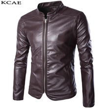 High Quality PU Leather Jackets Men Coats Black Red Male Motorcycle Leather Jacket Winter Coat Men 2016 New(China)