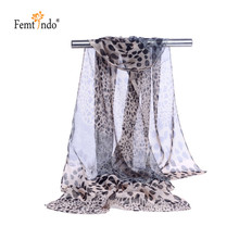 New Fashion Women Lady Winter Classic Leopard Print Shawls Scarf Scarves Chiffon Soft Long Scarf  Bandanas Bufandas 10pcs/lot