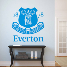 hot selling football club logo wall stickers bedroom home decoration removable decals diy vinyl art blue