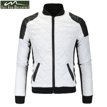 Men Leather Jackets Long Sleeve Men's Motorcycle Jackets Black White Patched Winter Casual Jackets Coats Wholesales 5XL