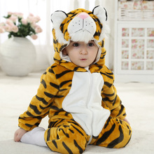 Baby Girls Clothing Autumn Fashion Outfits Tiger Infant Animal Costumes Clothes Flannel Baby Boy Rompers New Arrivals