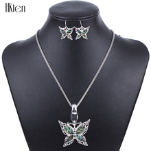 MS1504259 Fashion Jewelry Sets Hight Quality Necklace Sets For Women Jewelry Silver Plated Butterfly Unique Design Party Gifts