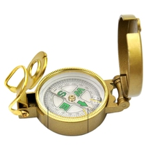 Buy Zinc Alloy Mini Folding Lens Compass Military Multifunction Boat Compass Dashboard Dash Mount Outdoor tools for $2.96 in AliExpress store