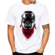 Cool New T Shirts Men The Adventure Dog Top Tees Pug Life O Neck Camisetas Polyester Short Sleeve Cool Summer Tops pa510(China)