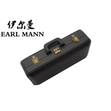 Graceful PU Leather Hard Case For Soprano Bend Saxophone Curved Bell Sax Saxofone Musical Instruments Treble Tube Saxe Black