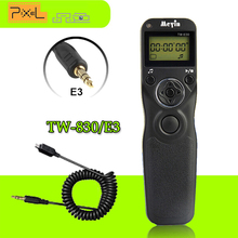MEYIN Shutter Release TW-830/E3 LCD Timer Intervalometer Remote Shutter Cable E3 For Canon PowerShot Pentax Samsung Contax(China)