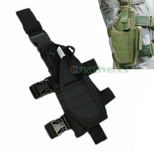 Unisex Military Travel Pistol Holster Pouch Hook Belt Fanny Pack Waist Leg Thigh Drop Bag For Right Hand(China)