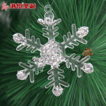 Christmas Snowflake Decorations 7cm Window Christmas Tree Decor for Home Restaurant Hotel Snowflake Ornaments 6pcs a lot(China)