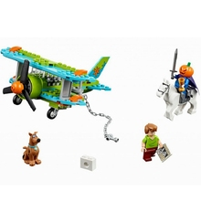 ZXZ Mystery Plane Adventures Scooby Doo Series 127 Bricks Set Sale 75901 Building Blocks Gift Baby Toys Compatible With Legoing(China)