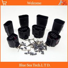 Sample,4 sets/lot 2/3/4/6 Pin male&female 1.5mm Auto Temp sensor plug,deflation valve plug waterproof connector for VW etc.(China)