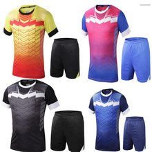 4 coulrs Men soccer training kits Multicolor optional soccer training jerseys football team unifroms Quality camistas futbol(China)