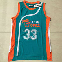 Viva Villa Stitched Jackie Moon Flint Tropical #33 Movie Throwback Jerseys Movie 7 Coffee Basketball Jerseys Mens Green