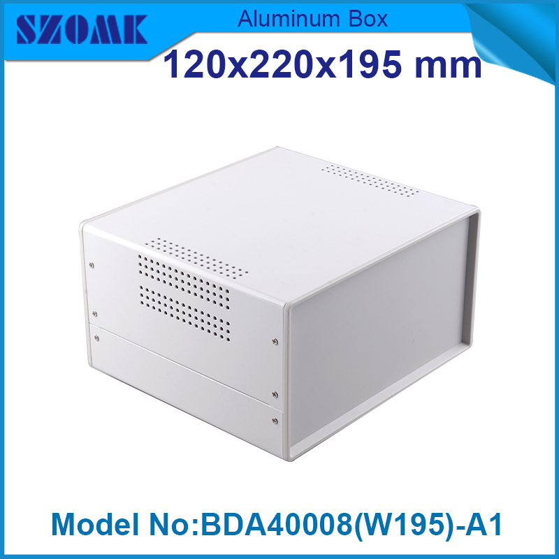 1 piece plc industrial  iron  enclosure electric cutout in Black and white color for iron box vents pcb size  119x219x2195 mm<br>