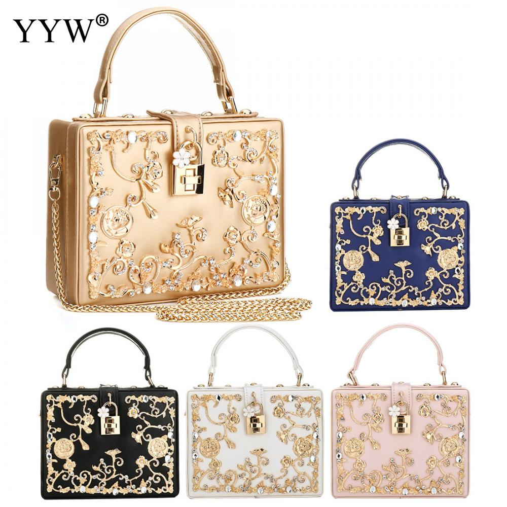 Luxury Women Bags Designer Sequin Evening Party Bag for Female Gold Tote Bag PU Leather Handbag Famous Brand Chain Crossbody Bag<br>
